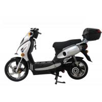 China Sliver Geared Motor Adult Electric Motorcycle , 48V 1100W E Scooter wholesale