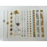 China Metallic Gold skin adult temporary tattoos For women arm band / headbands wholesale