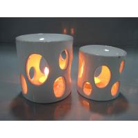 China White Arabian Household Ceramics Porcelain Oil Burner With Candle 8.5 X 8.5 X 10.5 Cm wholesale