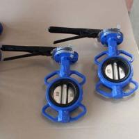 China GGG40  Wafer Type Butterfly Valve 4IN CL150 Lever Operator Epoxy coated wholesale