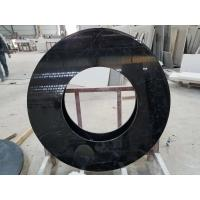 China Black Nero Marquina round table countertops marble table tops SGS Certification wholesale