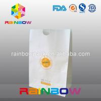 China Take Away Fast Food Paper Bag Packaging , Bread Flat Bottom Pouches Grease Proof wholesale