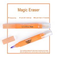 China Pink Magic Eraser for Eyebrows Skin Marker Pen Color Remover 10 Seconds wholesale