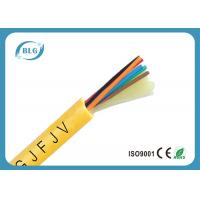 China Indoor 8 Core Fiber Optic Cable , Single Mode Fiber Optic Light Cable PVC LSZH on sale
