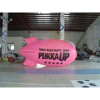 China Inflatable Advertising Helium Zeppelin , Openning Events Pink PVC Inflatables wholesale
