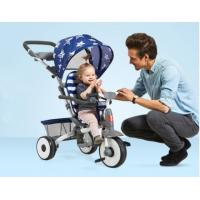 China 1-5 Years Baby Tricycle Bike With Reclining Seat Front Wheel With Clutch Button wholesale