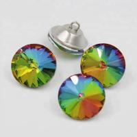 China Colorful Shiny Crystal Rhinestone Buttons Iron Material For KTV Sofa wholesale