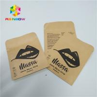 China Ziplock Kraft Paper Foil Pouch Packaging Three Side Sealed Flat Reclosable Pouch wholesale