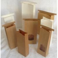 China Brown Customized Paper Bags With Front Window /  Kraft Paper Bag With Tin Tie wholesale