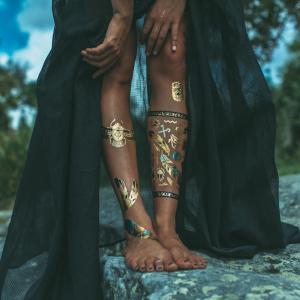 China Professional Skin Jewel Tattoo Stickers Foil Tattoo  for adults wholesale