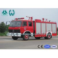 Double Cabin Dry Powder Fire Fighter Truck 4 x 2 Dongfeng Chassis