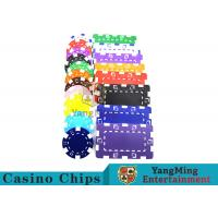 American Custom Made Casino Poker Chips With Dice 3.3mm Thickness for sale