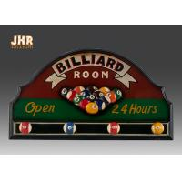 China Billiard Room Wall Decor Antique Wooden Wall Signs Decorative Wall Plaques Wood Wall Art Signs wholesale