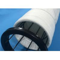China Dust Collector Polyester Felt Filter Bag Round Bottom Type With PTFE Membrane wholesale