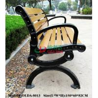 China Prefabricated Composite Park Bench , WPC Synthetic Wood Bench Fading Resistance wholesale