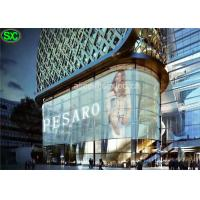 China P10.42 Transparent Glass Led Screen for Window With WIFI System , 800w Power wholesale
