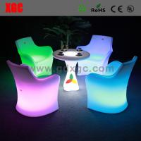 China Led Bar Chair Led Furniture Led PE Table And Chairs wholesale