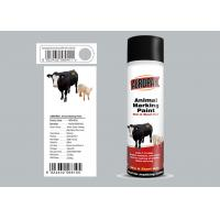 China 500ml Animal Marking Spray Paint  Silver Grey Color For Cow Liquid Coating State wholesale