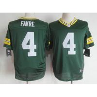 China Nike NFL Green Bay Packers #4 Brett Favre green Elite jersey wholesale