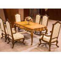 China OEM Antique Luxury Dining Room Furniture , Dining Room Table And Chair Sets wholesale