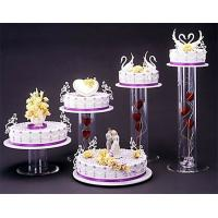 China Acrylic plexiglass display case , wedding cake display holders stands wholesale