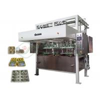 China Low Noise Pulp Tray Making Machine / Paper Corner Protector Forming Equipment on sale