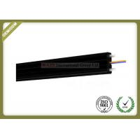 China 2core FTTH Fiber Optic Cable FRP Strength Member black color with SC Connector wholesale