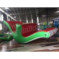 China 5m Long Inflatable Stimulating Totter Seasaw  Floating Water Games For Kids wholesale