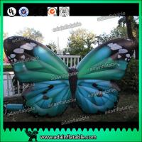 China Outdoor Advertising Inflatable Butterfly Beautiful Green High Tear Strength wholesale