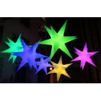 China RGB Inflatable Lighting Balloon Hanging Decoartion Inflatable LED Star wholesale
