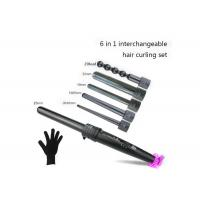 China Waver Triple Hair Curling Iron PTC Heater Interchangeable Barrels Ceramic Coating wholesale