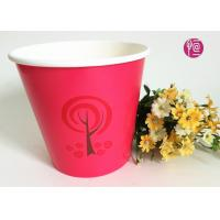 China 36oz Christmas Decorating Single Wall Paper Plant Pot   Red Color wholesale