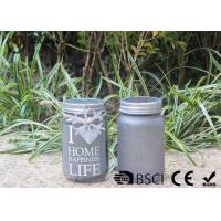 China Customized Mason Jar Led Solar Lights , Solar Powered Mason Jar Lantern wholesale