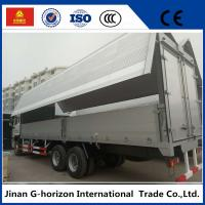 China sinotruk howo 10 wheelers 336hp side open wingvan cargo truck wholesale