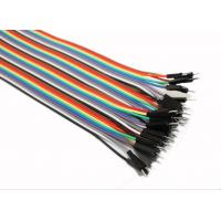 China Male To Male Jumper Wires Breadboard And Wire Kit Green Black Yellow White Blue wholesale