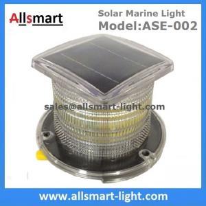 China 15LED Solar Marine Aquaculture Lights ASE-002 Buoys Navigation Hazard Warning Lights Flash Steady Type Solar Dock Light wholesale