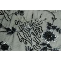 China Embroidered biker skull patch with beaded applique on sale