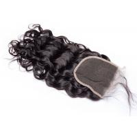 China Wet And Wavy 4 By 4 Lace Closure , Thick Indian Human Hair 4x4 Lace Closure wholesale