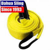 China 90mm Width Polyester 8T Recovery Tow Straps Towing Rope With Reinforced Loops wholesale