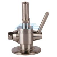 China Hygienic Stainless Steel 304 Manual PTFE Sealing Clamp Sample Valve Stainless Steel Automatic Return Aspetic Sample Val wholesale