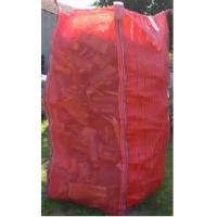 China Tall Red Firewood Ventilated Mesh FIBC Bulk Bag With Corner Loops 2202 Lbs on sale