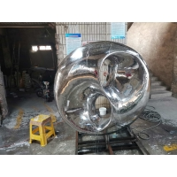 China Mirror Stainless Steel Sculpture Abstract Pool Contemporary Metal Garden Sculptures wholesale