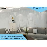 Quality Embossing , Flocking Modern Style Wallpaper with Silver Stripes Pattern 0.53 * 10M for sale