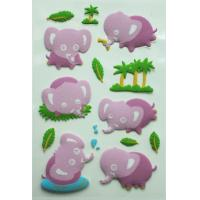 Custom Cute Animal Fuzzy Puffy Stickers with Glitter Cartoon Pattern For Kids