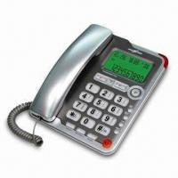 China Caller ID Phone with Big Button Two-way Handsfree Speaker and 3-alarm Function wholesale