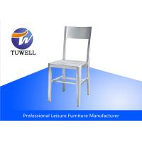 China Contemporary Sturdy Comfort Back EMECO Navy Chairs With Brushed Anodized wholesale
