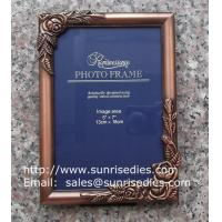 Buy cheap Metal rose picture frames in stock, emboss rose metal photo frames wholesaler in from wholesalers