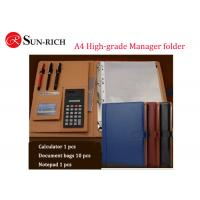China Business Gift A4 size high-grade multifunctional manager folder wholesale