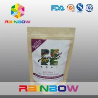 China Freeze Dried Super Food Power Customized Paper Bags With Adhesive Sticker Labels wholesale