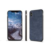 China iPhone X Blue Phone TPU Cover With Two Lanyard Holes , Lightweight TPU Bumper wholesale